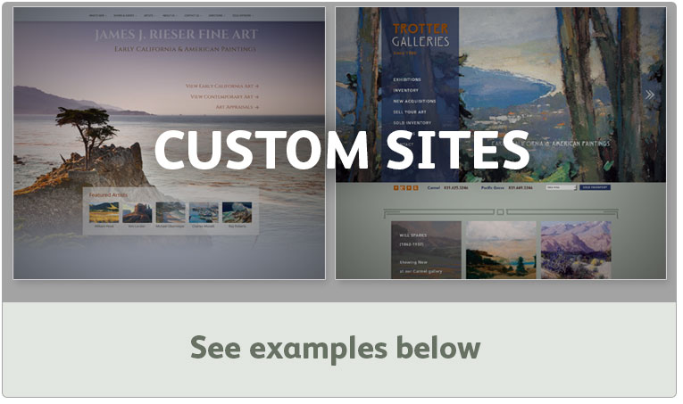 Art Gallery custom websites